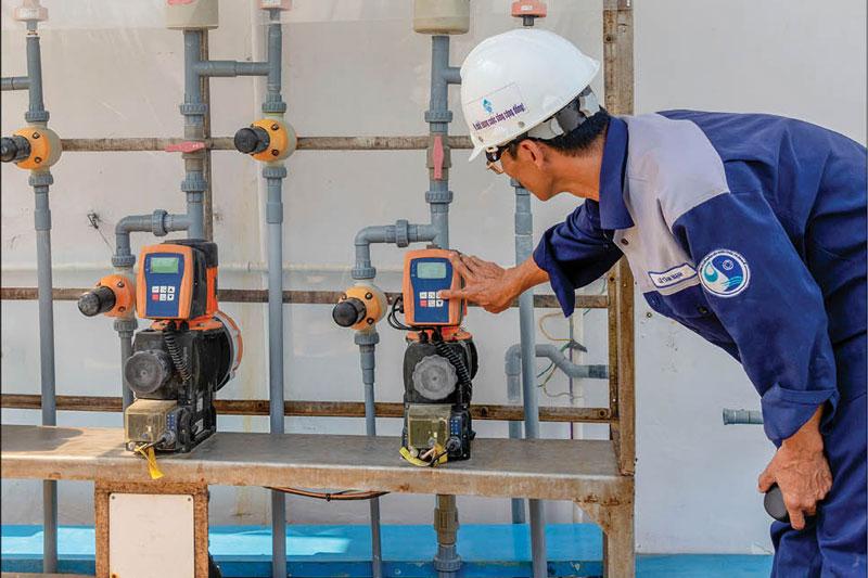 Cung cấp & thi công lắp đặt thiết bị công nghệ, vận hành chuyển giao công nghệ bể phản ứng, bể lắng, bể lọc , trạm bơm nước thô, bể chứa cho Nhà máy nước Quảng Tế 2 – TP.Huế – CS: 82.500 m3/ngày